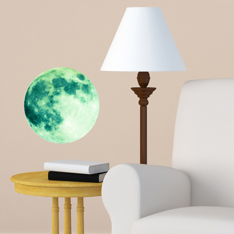 Walplus Wall Decals Glow in Dark Moon 20cm x 20cm