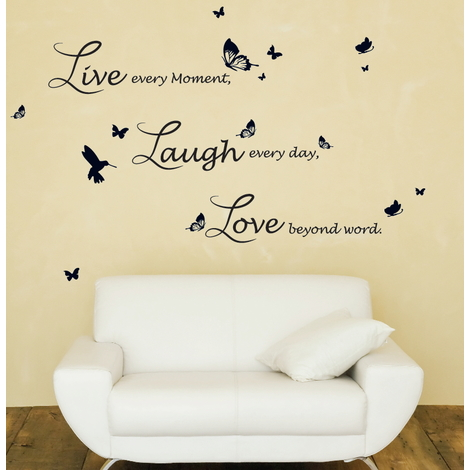 Walplus Wall Decals Lucida Live Laugh Love Quote
