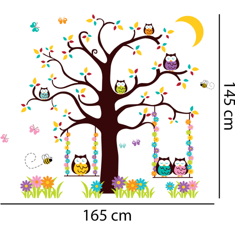 Walplus Wall Decals Owl Tree 2