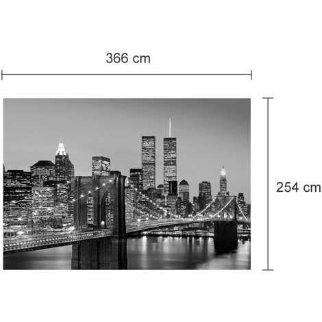Walplus Wall Mural Art Manhattan Skyline At Night
