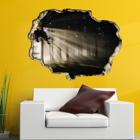 Walplus Wall Sticker 3D View with Forest Light View Art Decal