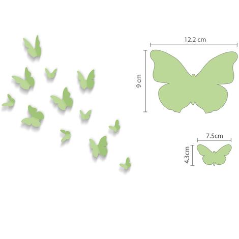 Walplus Wall Sticker Art Glow In Dark Dandelion with 3D Butterflies
