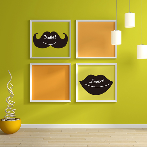 Walplus Wall Sticker Decal Blackboard - Mouth & Beard