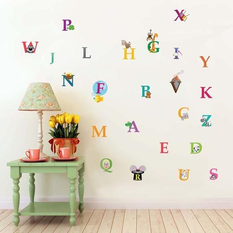 Walplus Wall Sticker Decal Learning Alphabet