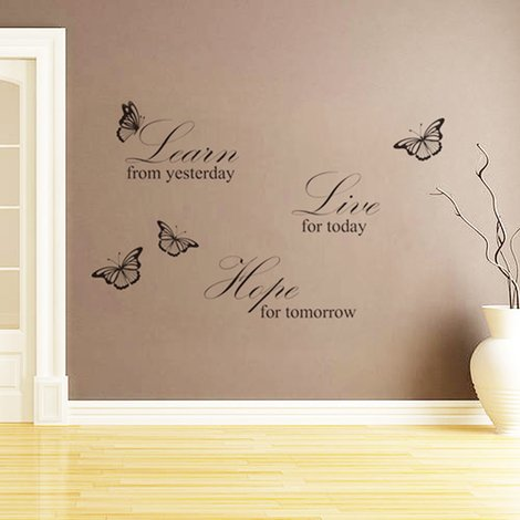 Walplus Wall Sticker Decal Live Learn Hope Quote