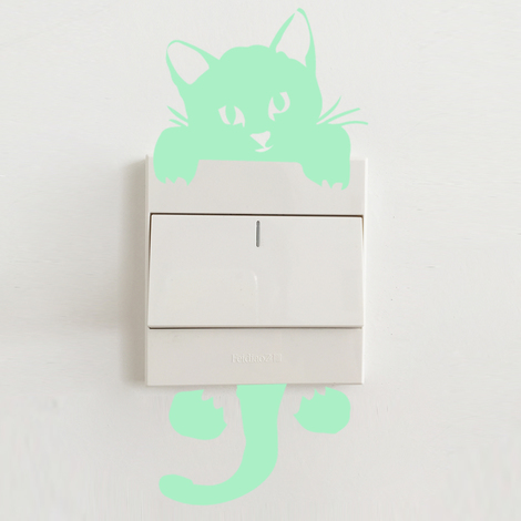 Walplus Wall Sticker Glowing Cat Decals Art