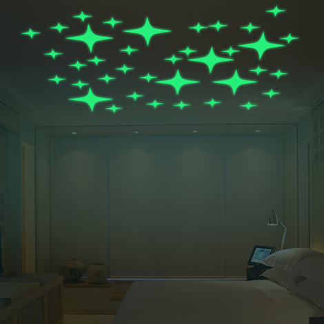 Walplus Wall Sticker Glowing Starry Night Decals Art