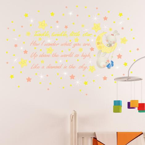 """Walplus Wall Stickers """"Swarovski & Twinkle Twinkle Little Star"""",Removable"""