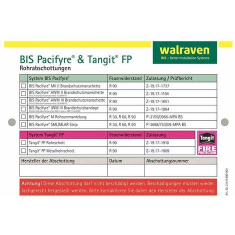 WALRAVEN BIS Pacifyre Kennzeichnungsschild für Wände und Decken