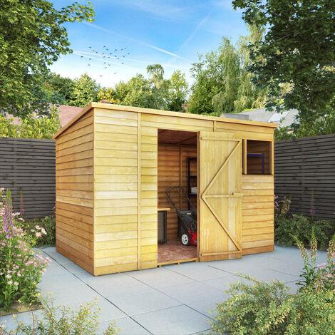 Waltons 10ft x 6ft Overlap Pent Wooden Shed