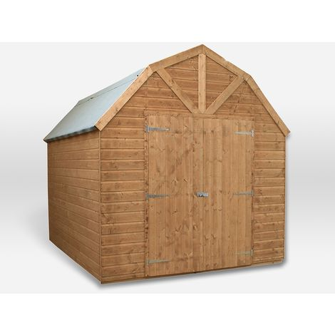 Waltons 10ft x 8ft Dutch Barn Tongue and Groove Apex Garden Shed