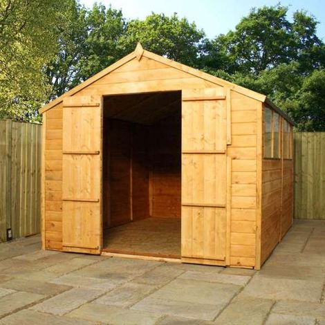 Waltons 10ft X 8ft Tongue And Groove Apex Wooden Shed