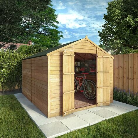 Waltons 10ft X 8ft Windowless Overlap Apex Wooden Shed