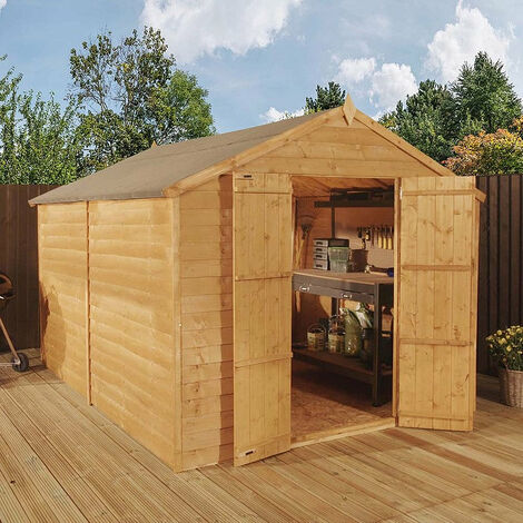 Waltons 12ftft x 8ft Windowless Overlap Apex Wooden Shed