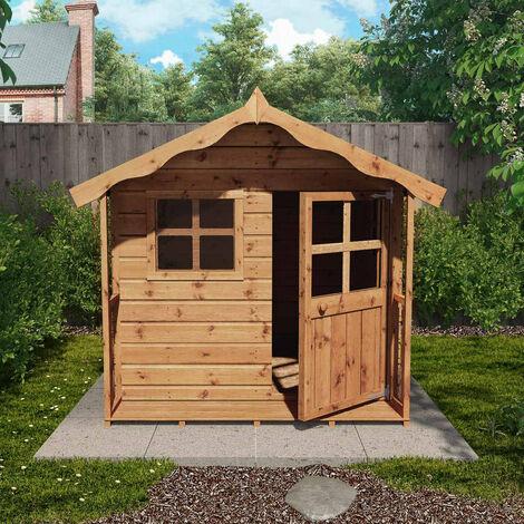 Waltons 5ft x 5ft Honeypot Poppy Apex Wooden Playhouse