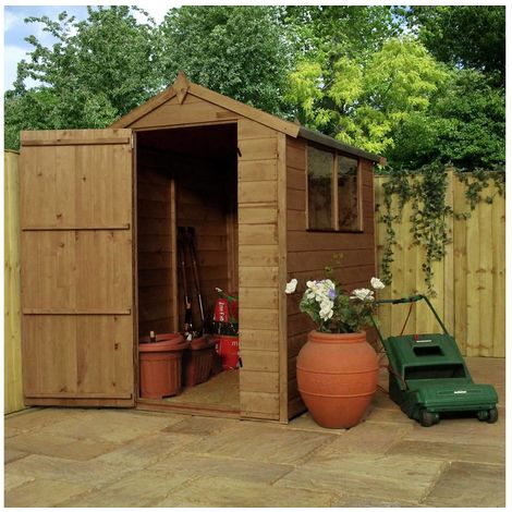Waltons 6ft x 4ft Tongue and Groove Apex Wooden Shed