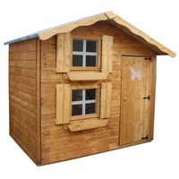 Waltons 7ft x 5ft Honeypot Snowdrop Apex Wooden Playhouse with Loft