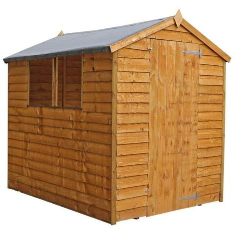 Waltons 7ft x 5ft Windowless Overlap Apex Wooden Shed