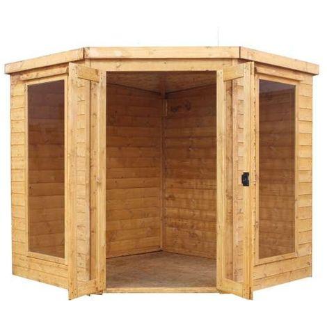 Waltons 7ft x 7ft Wooden Corner Summerhouse