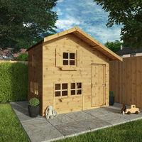 Waltons 8ft x 6ft Honeypot Bramble Apex Wooden Playhouse