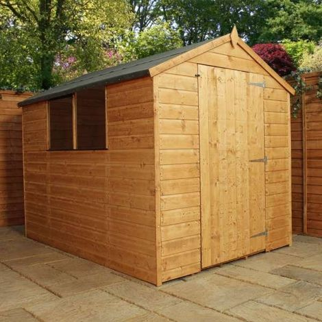Waltons 8ft x 6ft Tongue and Groove Large Door Apex Wooden Shed