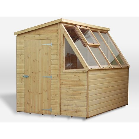 Waltons 8ft x 6ft Tongue and Groove Potting Shed Wooden Greenhouse