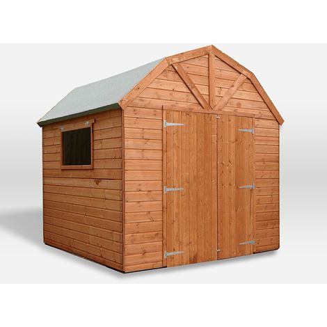 Waltons 8ft x 8ft Dutch Barn Tongue and Groove Apex Garden Shed