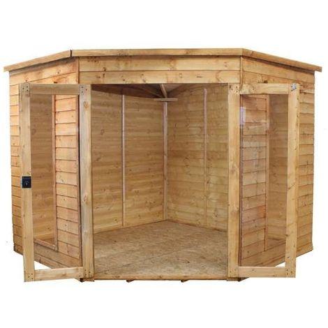 Waltons 8ft x 8ft Wooden Corner Summerhouse