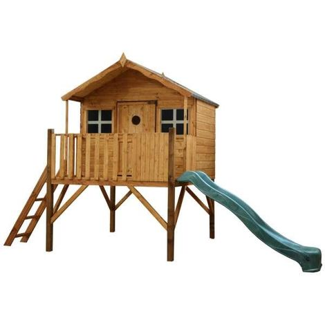 Waltons Honeypot Honeysuckle Tower Wooden Playhouse with Slide