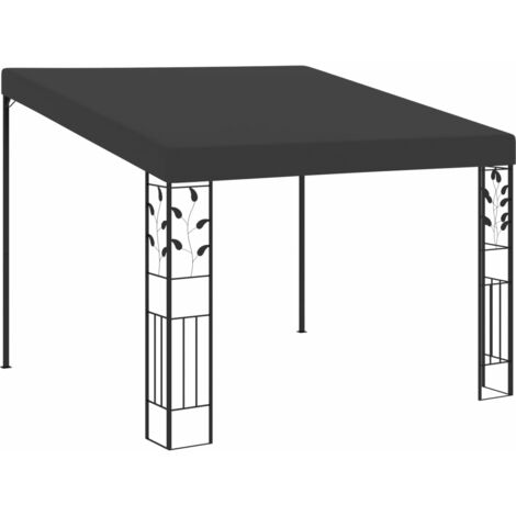 Wand-Pavillon 3 x 3 x 2,5 m Anthrazit