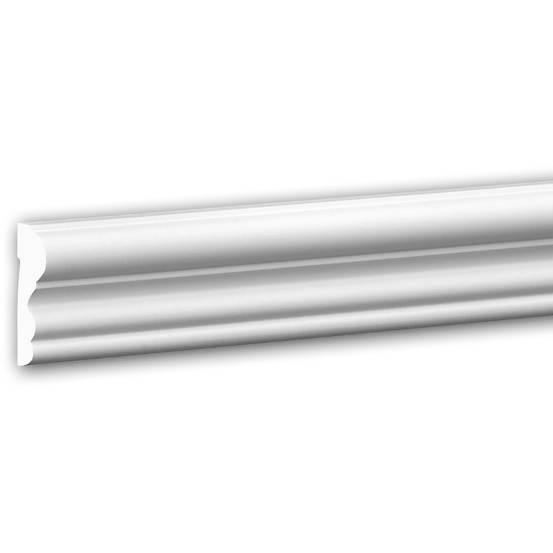 und Friesleiste PROFHOME 651400 Stuckleiste Zierleiste sto/ßfest Friesleiste Zeitloses Klassisches Design wei/ß 2 m Wand