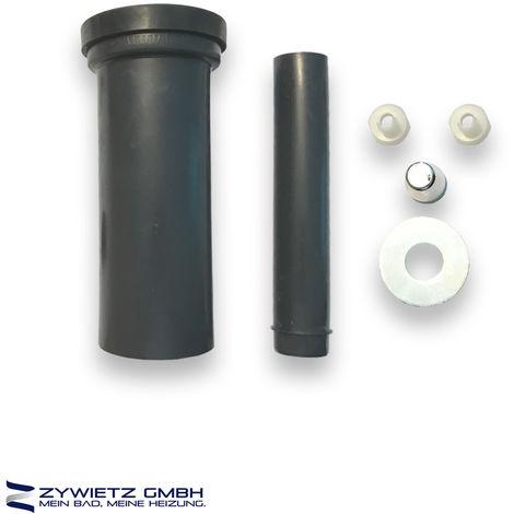 Wand-WC-Anschlussgarituren - 300 mm lang verschweißbar DN110/110 schwarz