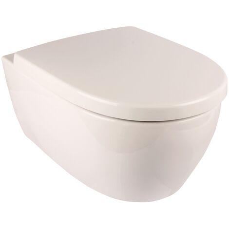 Wand-WC-Set Icon | Keramag | Spülrandlos | Inklusive WC-Sitz | Tiefspüler | Weiß