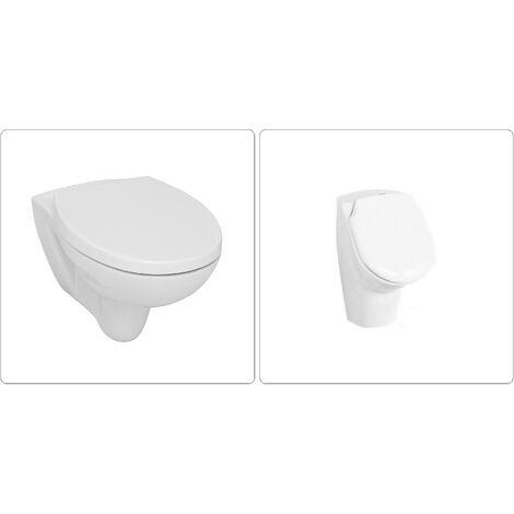 Wand WC spülrandlos mit SoftClose Deckel und Urinal
