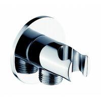 Wandanschlussbogen mit Brausehalter BA003 - rundes Design