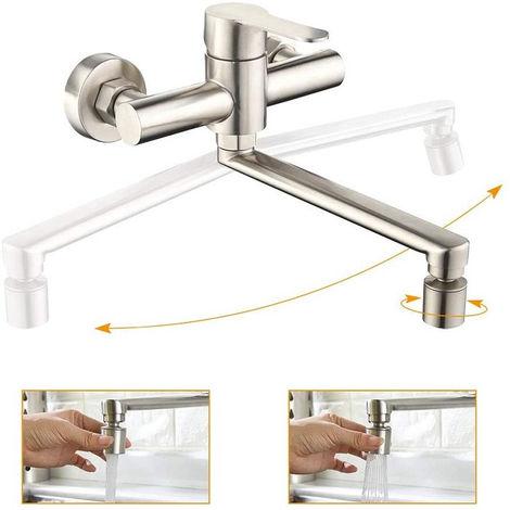 Gut gemocht Wandarmatur Küche Wasserhahn Armatur Küchenarmatur 2 LJ62