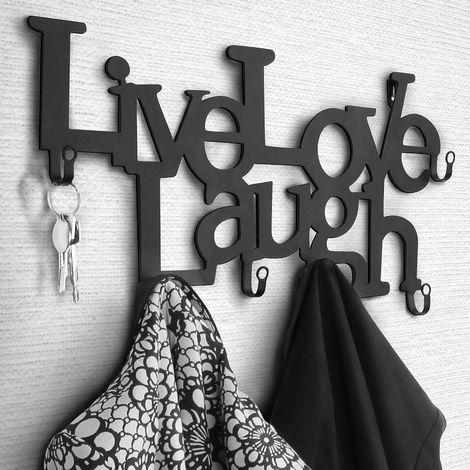 Hakenleiste shabby chic Wandgarderobe Kleiderhaken Handtuchhalter fünf Haken neu