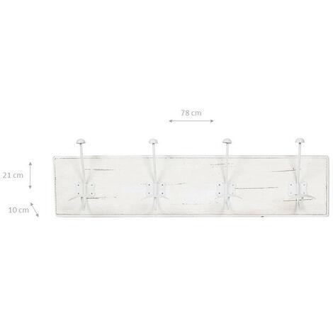 Wandhänger 2er-Set aus Schmiedeeisen zum Bepflanzen Aufbewahrung Deko antikweiß