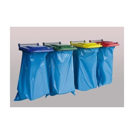 Wandhalterung für Müllsäcke | Blau | Certeo Müllsackhalter Müllbeutelständer