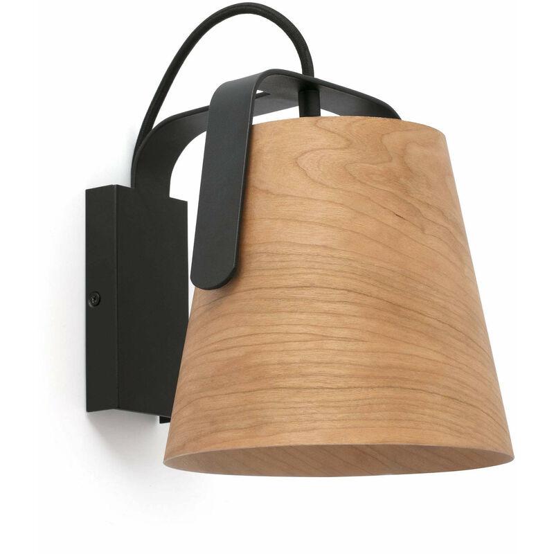 08-faro - 1-Licht Holz Wandleuchte Stand