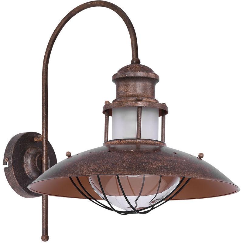 Globo - Wand Leuchte Industrie Landhaus Stil braun Strahler Lampe Wohn Zimmer Beleuchtung Rost 15355W