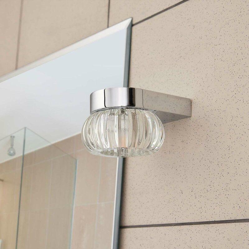 Wandleuchte, Wandlampe Bad aus Glas für Badezimmer von Lampenwelt