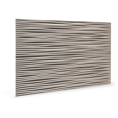 Wandpaneel 3D 3D 705054 Wilderness Brushed Nickel Dekorpaneel geprägt in Kunststoff Optik glänzend grau 1,7 m2