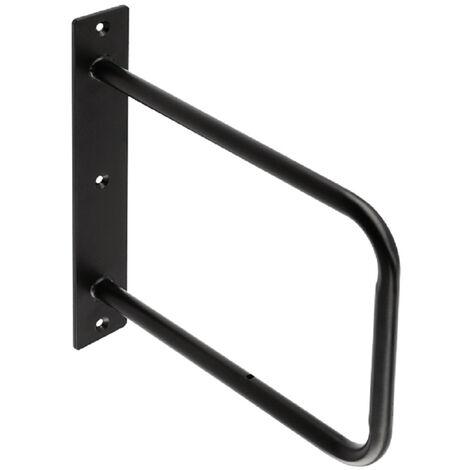 Wandregalhalter Regalkonsole Garderobenkonsole Schwarz matt Regalbodenträger Stahl