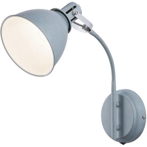 LED Wand Spot Lampe Chrom Flexo Strahler beweglich Leuchte Beleuchtung Big.Light