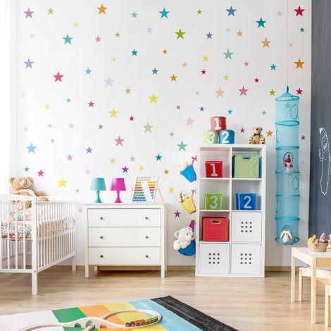 Fabulous Wandtattoo 92 Bunte Sterne Kinderzimmer Set Größe HxB: 30cm x 45cm UN76