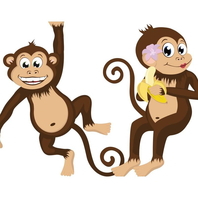Wandtattoo Babyzimmer Affen Dschungel Safari No Yk28 Affenbande Grosse 115cm X 180cm 94170 668586 1374962