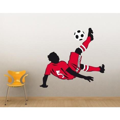 Wandtattoo Fussball No Ul615 Fussball Fallruckzieher Farbe