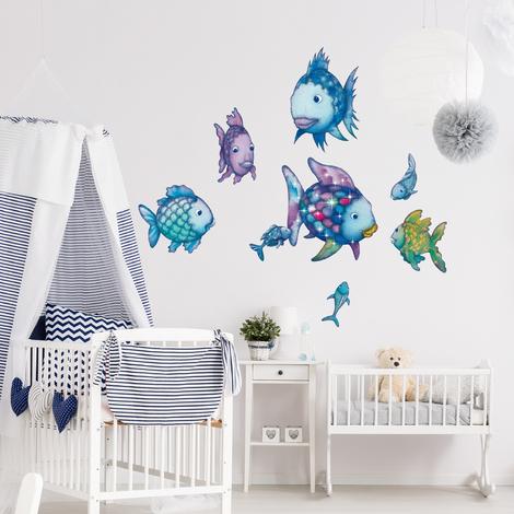 Wandtattoo Kinderzimmer | Wandtattoo Kinderzimmer Der Regenbogenfisch Unterwasserparadies