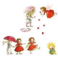 Wandtattoo Kinderzimmer Erdbeerinchen Erdbeerfee - Erdbeerinchen, Ida und Eleni Sticker Set Größe HxB: 22cm x 31cm